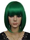 nyanländ Bobo cosplaya stil grönt kort rakt syntetisk peruk