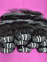 7a brasilianska jungfru hår vågigt 400g lot indiska Remy hårförlängningar väver naturliga färg kan chagne färger