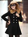 Femei Plus Size Femei Palton Manșon Lung Bumbac / Poliester / Nailon