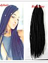 #1B Senegal twist Flätor Hårförlängningar 20 Kanekalon 2 Strå 160 gram Hair Braids