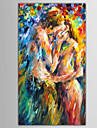 Hand-Painted People / Abstract Portrait Modern / European Style Oil Painting , Canvas One Panel