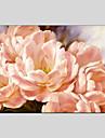 HANDMÅLAD Blommig/BotaniskModerna / Klassisk / Traditionellt / Europeisk Stil En panel Kanvas Hang målad oljemålning For Hem-dekoration