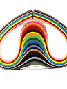 120pcs 5mmx53cm papier quilling (24 pcs couleur x5 / couleur) de bricolage decoration d\'art