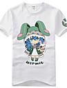 Inspirerad av Datum A Live Yoshino Animé Cosplay-kostymer Cosplay T-shirt Tryck Svart Kort ärm T-shirt För Unisex