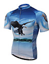 XINTOWN® Cycling Jersey Men\'s Short Sleeve Bike Breathable / Quick Dry / Ultraviolet Resistant / Limits Bacteria Jersey / TopsElastane /
