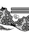 Tearbeauty-Temporära färger-Spets-Annat- tillDam / Vuxen-Svart-Papper-1- styck34cm*23cm-006