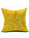 1 pcs Coton/Lin Housse de coussin,Geometrique Moderne/Contemporain