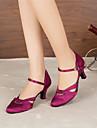 Chaussures de danse(Noir Violet) -Personnalisables-Talon Personnalise-Satin-Moderne