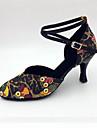 Customizable Women\'s Dance Shoes Leatherette Leatherette Latin / Modern / Samba Sandals / Heels Stiletto HeelPractice / Beginner /