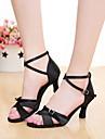 Chaussures de danse(Noir / Marron / Violet / Autre) -Personnalisables-Talon Personnalise-Satin-Latine / Salsa