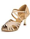 Zapatos de baile(Azul / Oro) -Latino / Moderno-Personalizables-Tacon Stiletto