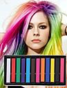 12 färg tillfälliga krita kritor för hår ogiftiga hårfärgnings pasteller stick diy styling verktyg