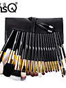MSQ® 18pcs Makeup Brushes set Bristle/Goat/Pony/Horse Hair Hypoallergenic/Limits bacteria Black Powder/Concealer brush Shadow/Brow/Lashes Brush