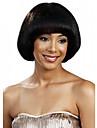 Bobo stil rakt hår europeisk väva svart hårfärg syntetisk peruk