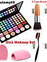 3in1 makeup set (78 färger 3in1 60 ögonskugga 12 läppstift 6 rouge makeup kosmetiska palett + 1 rougeborste + 1 borste ägg)