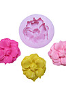 Ett Hål Blomma Med Bud Silikon Mögel Fondant Formar Sugar Craft Verktyg Harts blommor Mould formar för kakor