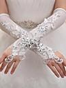 Elbow Length Fingerless Glove Elastic Satin Bridal Gloves / Party/ Evening Gloves Spring / Summer / Fall / Winter Sequins / Rhinestone