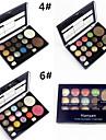 12 Glitter Shimmer Color Eyeshadow+2 Blush Ögonskuggspalett Torr / Skimmrig Ögonskugga palett Puder NormalVardagsmakeup / Älvlik makeup /
