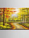 Mini e-home oljemålning moderna skogen trail ren hand dra ramlösa dekorativt måleri