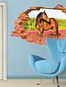 Djur / Botanisk / 3D Wall Stickers Väggstickers i 3D,PVC 60*90CM