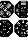 1st nail art stämpel stämpling bild mall plattan qa serie no.1-60 (diverse mönster)