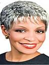 perruques synthetiques cheveux gris perruque de mode a court femme boucles