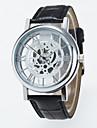 Bărbați pentru Doamne Unisex Ceas Schelet Ceas de Mână ceas mecanic Quartz / PU Bandă Casual Negru Maro Negru Cafea