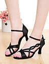 SUN LISA Customizable Women\'s Dance Shoes Latin / Salsa Satin Customized Heel Black / Brown / Purple / Red / Other