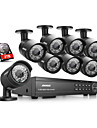 annke® 16ch 1080p DVR CCTV ir exterieure systeme de camera de securite a domicile avec un disque dur de 2 To