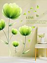 Botanisk / Romantik / Blommig Wall Stickers Väggstickers Flygplan,PVC 60*90(23.6*35.4 inch)