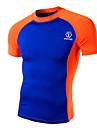 Maillot de Cyclisme Homme Manches courtes Velo Tee-shirt Shirt Hauts/Tops Sportif Ete Cyclisme Sport de detente Vert Blanc Orange