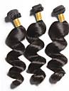 3Bundles 150g peruanska jungfru hår väva naturligt svart lös våg människohår väver