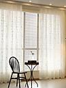 Två paneler Rustik / Modern / Europeisk Vinranka Vit Living Room Poly/Bomull blend Sheer gardiner Shades