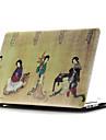 färgad ritning ~ 2 stil platt skal för macbook air 11 \'\' / 13 \'\'