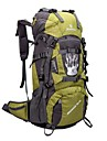 60L L sac a dos Camping & Randonnee / Voyage Outdoor Etanche / Zip etanche / Vestimentaire / Respirable Jaune / Vert / Rouge / Noir / Bleu
