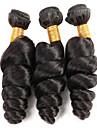 Tissages de cheveux humains Cheveux Bresiliens Ondulation Lache 3 Pieces tissages de cheveux
