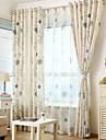 Två paneler Rustik / Modern Blommig/Botanisk Enligt bilden Living Room Linne/Polyesterblandning Blackout Gardiner draperier