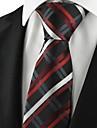 Cravată(Negru / Albastru / Roșu,Poliester)Dungi