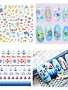 Vackert-Finger-3D Nagelstickers / Nagelsmycken- avPVC-1pcs- styck6.6*7.2- cm