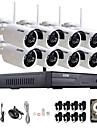 zosi®8ch 960p NVR 8st 1.3MP wifi IP-kamera vattentät hemsäkerhet övervakning kit med 1TB
