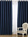 Två paneler Fönster Behandling Designer , Tecknat Vardagsrum Linne/Bomull blend Material Mörkläggning Gardiner draperier Hem-dekoration