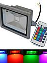 20W LED-strålkastare 1 COB 1500-1600 lm Varmvit / Kallvit / RGB Fjärrstyrd / Vattentät AC 85-265 V 1 st