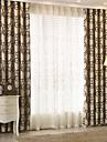 Deux Panneaux Le traitement de fenetre Moderne , Geometrique chambre d\'enfants Polyester Materiel Rideaux occultants rideauxDecoration