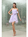 Short/Mini Chiffon Bridesmaid Dress A-line Strapless