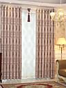 Deux Panneaux Moderne Nouveaute Gris / Cafe chambre d\'enfants Polyester Rideaux occultants rideaux