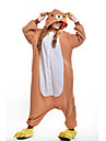Kigurumi Pyjamas nya Cosplay® / Björn Leotard/Onesie Halloween Animal Sovplagg Gul Lappverk Polar Fleece Kigurumi UnisexHalloween / Jul /