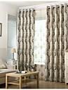 Två paneler Rustik / Europeisk Kurva Svart Living Room Polyester Blackout Gardiner draperier