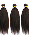 Tissages de cheveux humains Cheveux Bresiliens Droit 6 Mois 3 Pieces tissages de cheveux