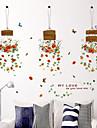 Botanique Mode Floral Stickers muraux Autocollants avion Autocollants muraux decoratifs Materiel Amovible Decoration d\'interieurCalque