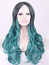 cosplay peruk Europa och Amerika lolita lolita Harajuku svart hradient grön cosplay lockigt hår